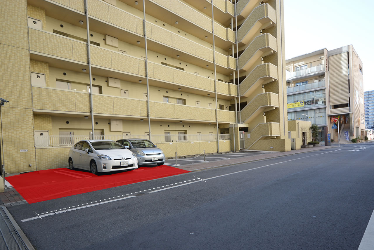 高崎Room's 駐車場